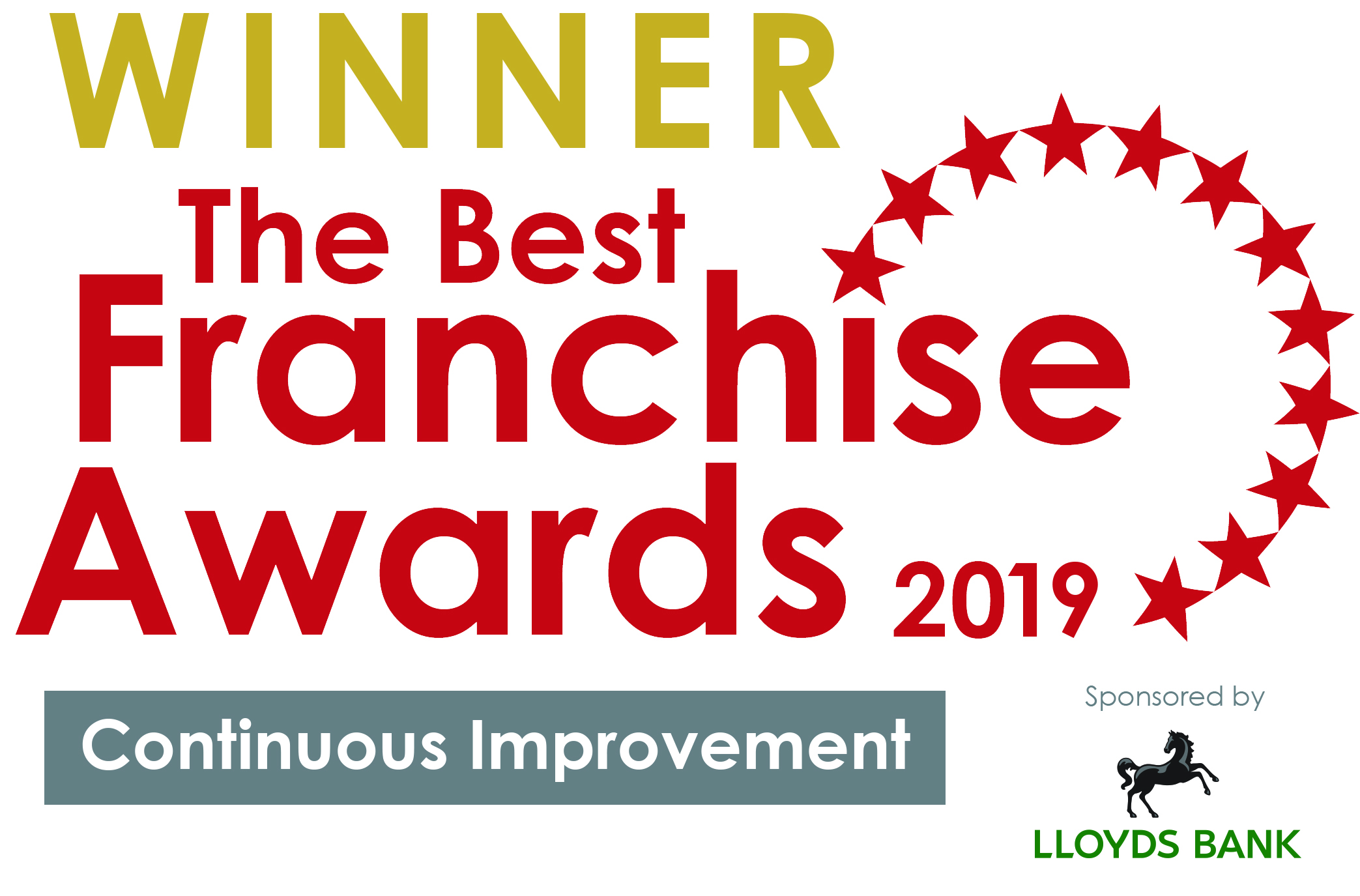 Winner of the best franchisse award 2019